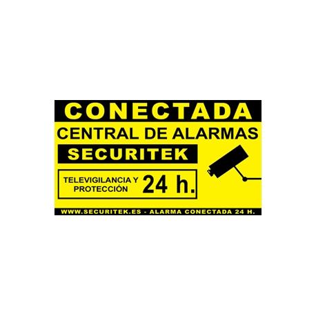 cartel de alarma conectada