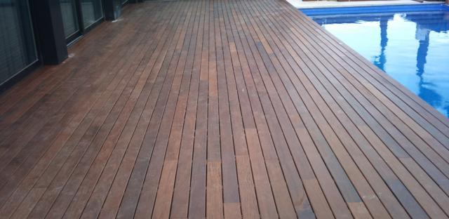 Tarima exterior sintetica leroy merlin affordable good interesting excellent cool baldosa de - Suelos de madera exterior ...